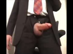 Hung Bulge In Suit