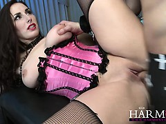 HarmonyVision Paige Turnah knows how to handle two cocks at