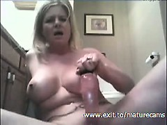 45 Years Blonde Milf Evelyn At Home
