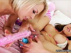 Asian American Jayden Lee And Blonde Zoey Monroe Toys Holes