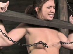 nipple-clamped-sub-restrained-by-dom
