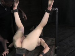hog-tied-submissive-caned-by-black-dom