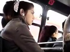 showing-off-cock-on-the-bus