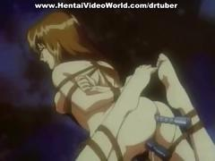 Group sex with tied-up hentai girl
