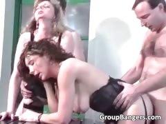 Amateur Group Sex With Hot Blonde Part6