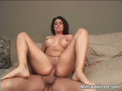 Brunette MILF is born star with her part5