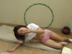 Amateur student undress on the floor